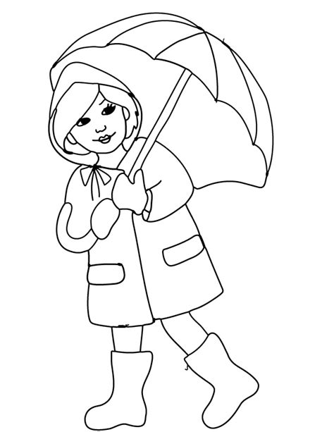 free printable coloring page and clipart april showers