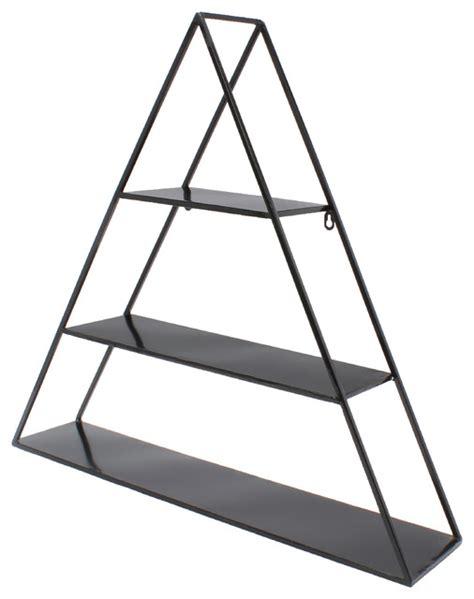Uniek Tildan 3 Tier Floating Metal Wall Shelf, Black   Display And Wall Shelves   Houzz