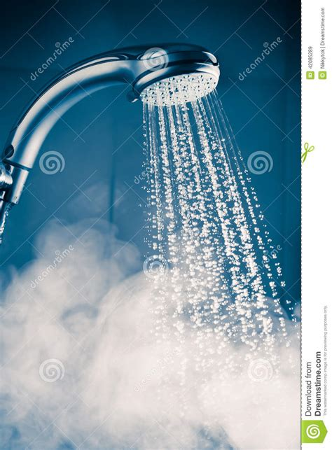 Water Shower by Contrast Shower With Water Stock Photo Image