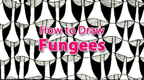 Zentangle Pattern Fungees | how to draw the zentangle pattern fungees youtube