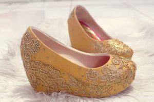 Sandal Wanita Platform Sandal Gold Merah Emas Bts sepatu flat wanita sepatu haihil wedding sepatu cantik