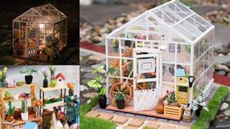 Cathy S House by Diy Dollhouse Kit Miniature Greenhouse Cathys Flower House With Led Light Crafts And Diy