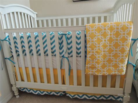Mod Teal Yellow Baby Bedding Set Babylovin Teal Crib Bedding Sets