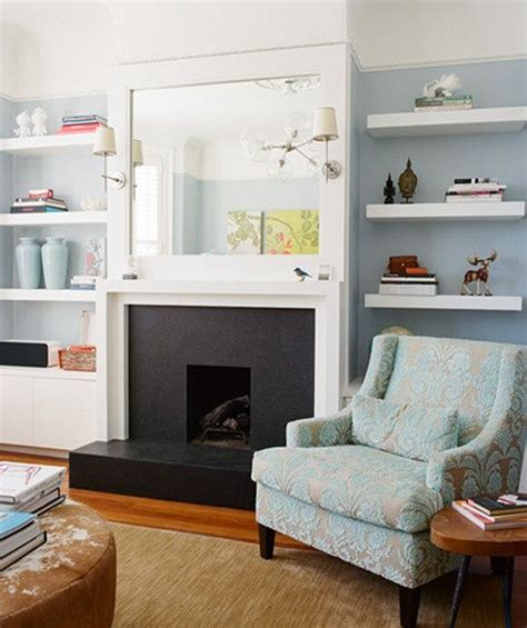 fireplace built in shelves house style