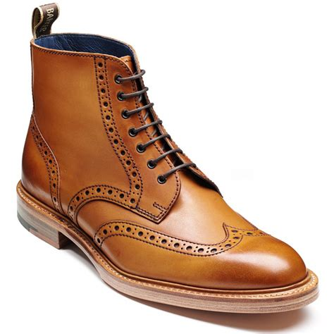barker butcher derby lace up brogue boots marshall shoes