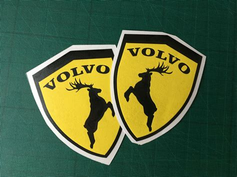 volvo shield moose decal elk sticker left  exterior animal sticker  ebay