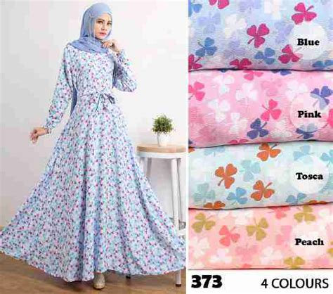 Dress Wanita Maxi Dress Muslim Elsa Umbrella gamis modern cantik 373 crepe baju muslim umbrella