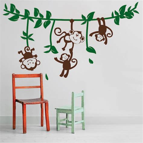 monkey wall stickers silly monkeys wall decals trendy wall designs