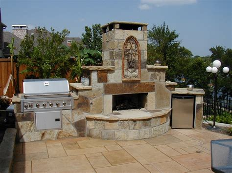 patio fireplace outdoor grill