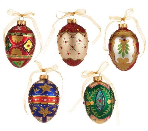 musical egg ornaments from qvc 19 best images about valerie parr hill products on sparkle trees and qvc