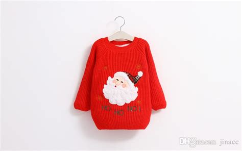 christmas jumper pattern baby 2016 kids girls christmas santa claus knit sweaters babies