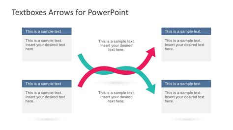 arrow powerpoint template textboxes and arrows for powerpoint slidemodel