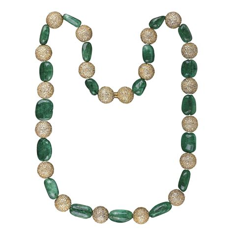 emerald bead necklace emerald and necklace for sale at