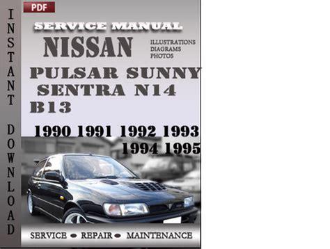 service repair manual free download 1991 nissan sentra security system nissan pulsar sunny sentra n14 b13 1990 1991 1992 1993
