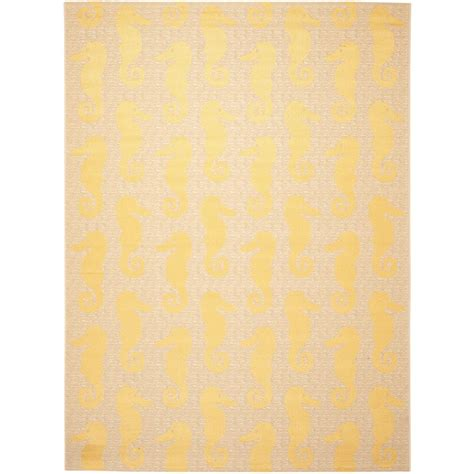 Safavieh Courtyard Beige Yellow 8 Ft X 11 Ft Indoor Yellow Indoor Outdoor Rug