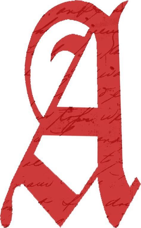 Scarlet Letter quot scarlet letter a script quot by pagepensive redbubble