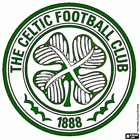 celtic fc coloring page, printable celtic fc