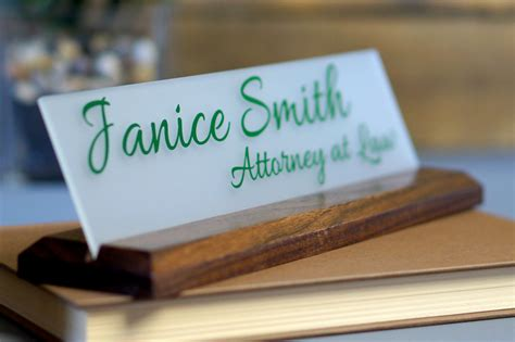desk name plate name plaque desk accessories for by garosigns