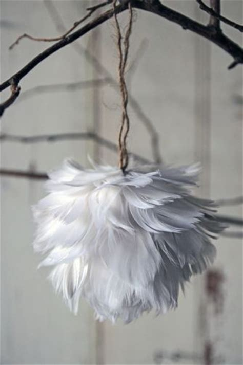 feather ornaments i would love these but in bright