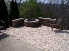 Patios With Fire Pits by Patio Fire Pit Front View Quality Creative Landscaping
