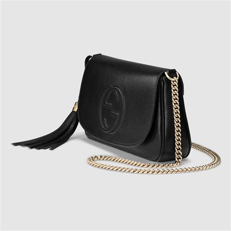 Gucci Soho Bag gucci soho leather shoulder bag in black lyst