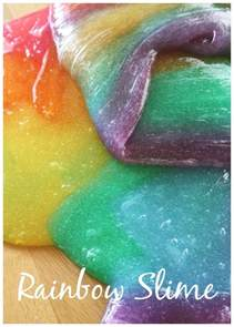 rainbow slime how to make easy colored slime activity