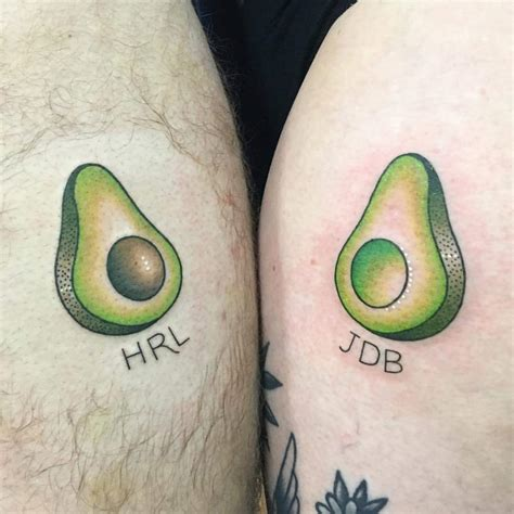 avocado tattoo couple 60 couple tattoos to keep the love forever alive