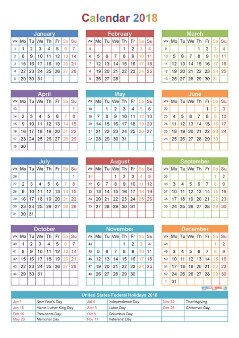 printable calendar us us holidays 2018 january the best holiday 2017