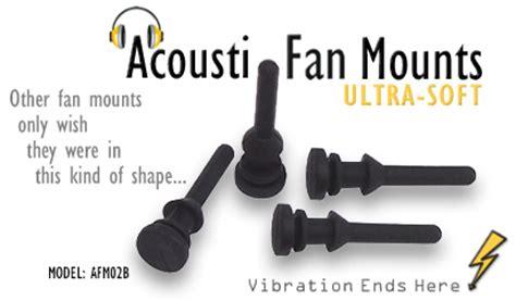 noctua rubber fan mounts acousti ultra flush fit silicone fan mounts afm02b
