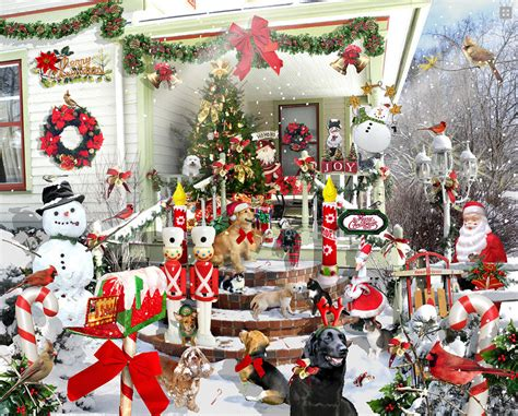 jigsaw puzzles crazy christmas 1000 piece puzzle by