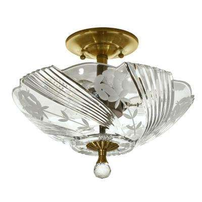 springdale lighting quentin 150 watt brass semi flushmount lights ceiling lights the home