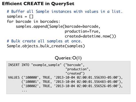 django tutorial query efficient django queryset use