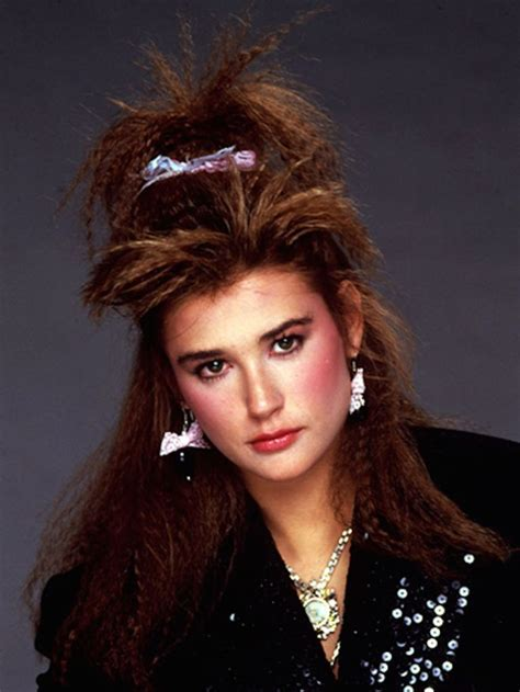 1980s hairstyles for prom demi moore with crimped hair c 1985 1980s pinterest