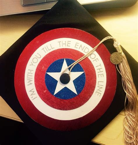 Grad Cap Decorations Captain America Graduation Cap Decoration With Quote From