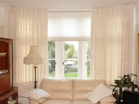 windows with blinds and curtains bay window curtains 5891