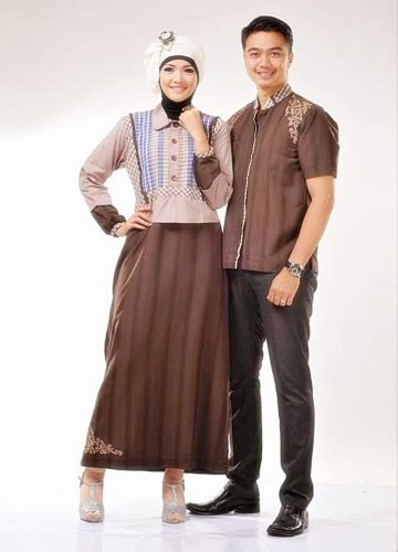 contoh kain sarimbit 23 model baju gamis batik wanita kombinasi kain polos