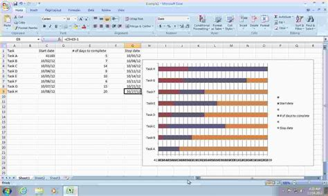 gantt chart in excel 2010 template 5 how to create a gantt chart in excel 2010 ganttchart