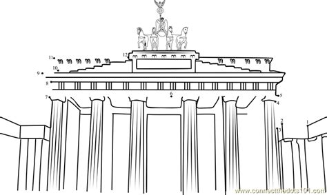 coloring pages of india gate brandenburg gate clipart 13