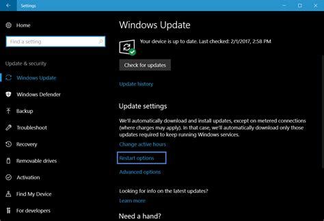 the windows 10 upgrade notification guide enable update restart notifications in windows 10