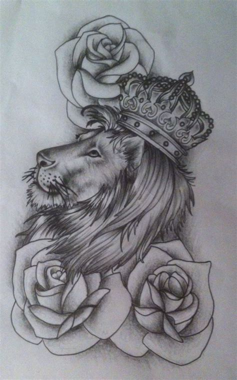 rose and lion tattoo roses and search tattoos