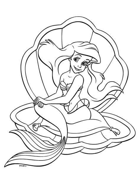 Disney Princess Mermaid Coloring Page Disney Princess Mermaid Coloring Pages Disney