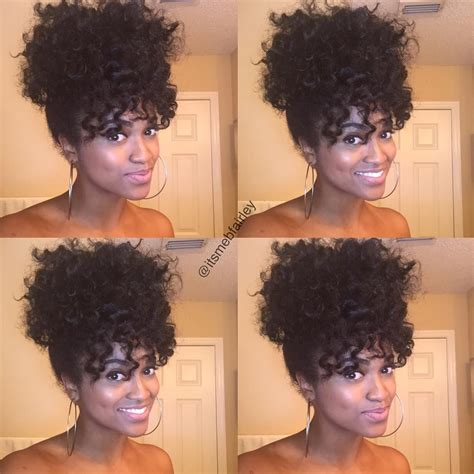 Hairstyles Twist Out Updo by Ponytail Bangs From Twist Out Perm Rods