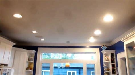 kitchen can lighting kitchen can light led retrofit comparision youtube
