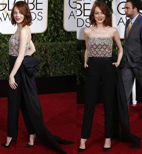 emma stone jumpsuit best dressed emma stone in sparkling lanvin jumpsuit and