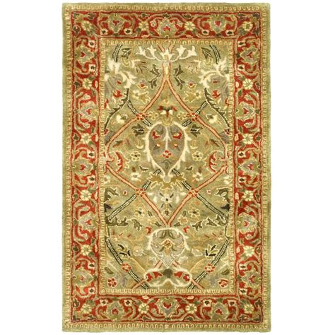 2 6 x 4 rug safavieh legend light green rust 2 ft 6 in x 4 ft area rug pl819b 24 the home depot