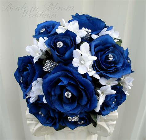 Blue Flower Wedding Bouquet by Blue Wedding Bouquet In Bloom