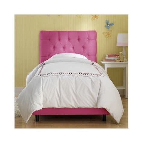cute headboards for girls my girls have these beds so cute pink tuffted twin beds