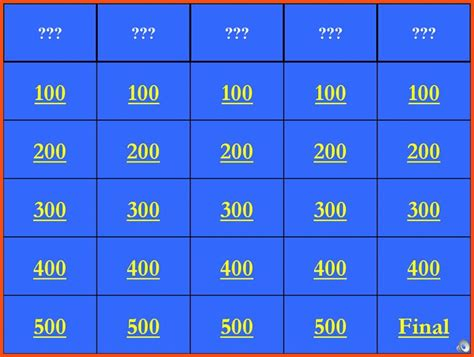 Jeopardy Powerpoint Template With Sound Lovely 9 Free Jeopardy Template With Sound And Score