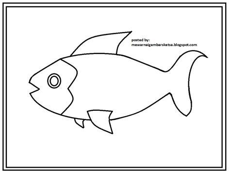 mewarnai gambar mewarnai gambar sketsa hewan ikan 8