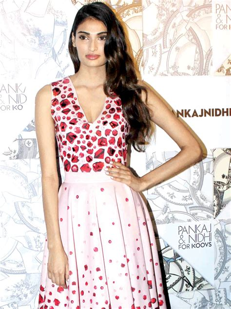 Dress Athiya spotted athiya shetty looks chic in a pink gem print